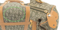 Christian Dior Trotter Canvas Leather Hand Bag Green Beige-dct-ep_vintage luxury Store
