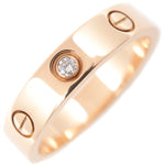 Cartier Mini Love Ring 1P Diamond Rose Gold #51 US5.5-6 EU51-51.5-dct-ep_vintage luxury Store