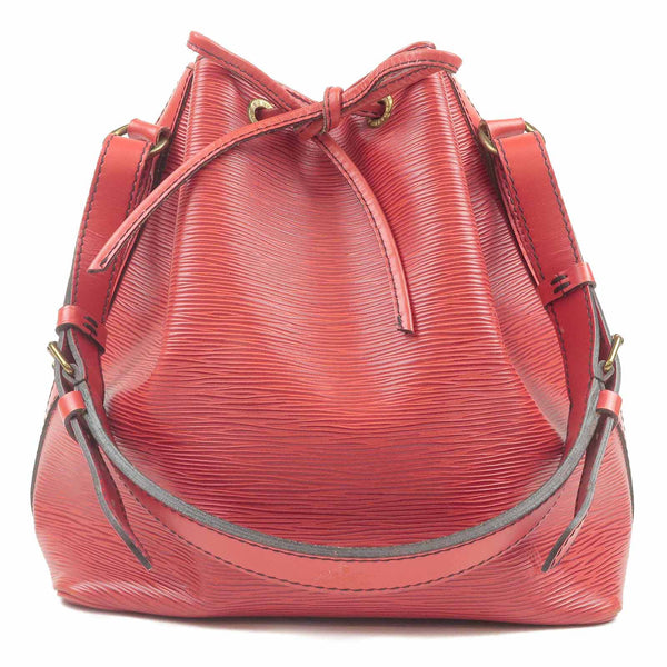 Louis Vuitton Epi Petit Noe Shoulder Bag Castilian Red M44107