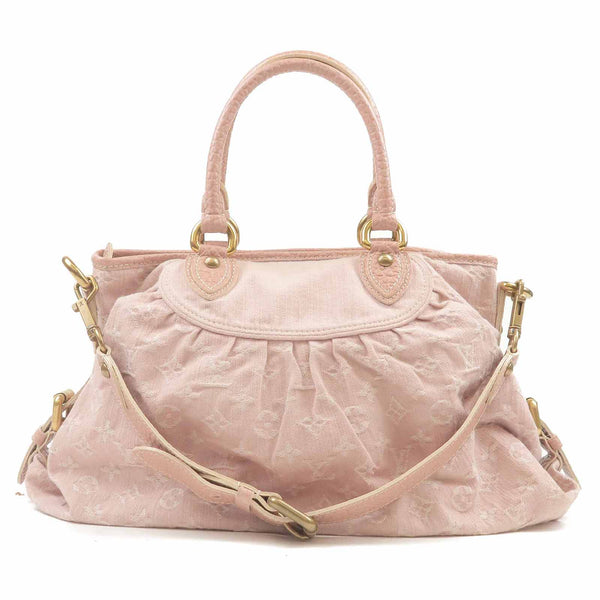 Louis Vuitton Monogram Denim MM Pink 2Way Bag M95836
