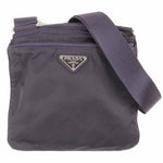 PRADA Nylon Leather Shoulder Bag Purple