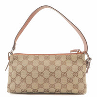 GUCCI GG Canvas Leather Hand Bag Pouch Brown 103399-dct-ep_vintage luxury Store