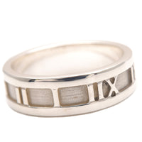 Tiffany&Co. Atlas Ring Silver 925 US8.5 HK19 EU58.5-dct-ep_vintage luxury Store