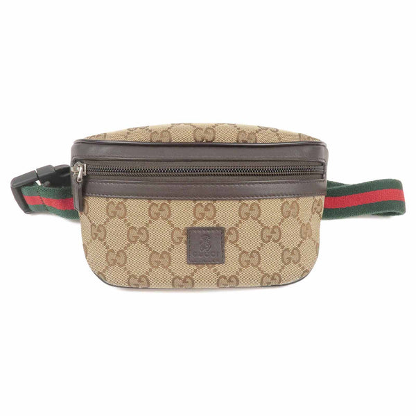 GUCCI Children Sherry Line GG Canvas Waist Bag Beige 311159