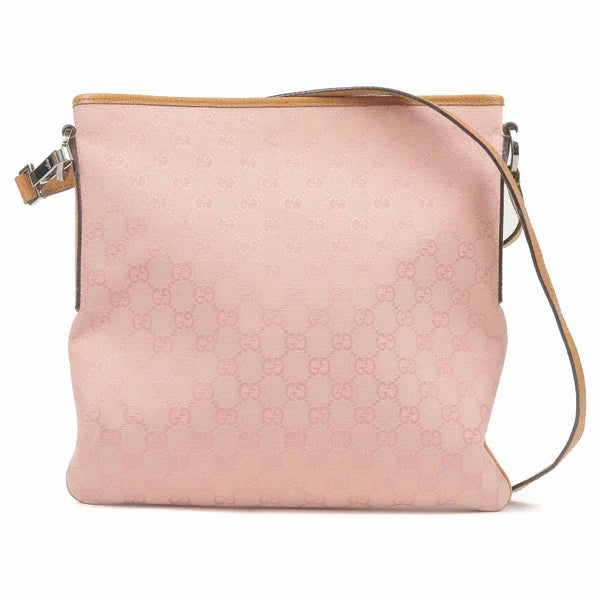 GUCCI GG Canvas Leather Shoulder Bag Pink 113013-dct-ep_vintage luxury Store