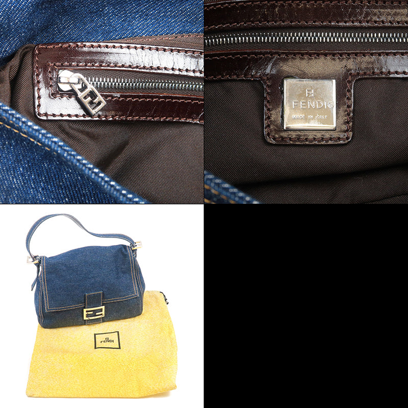 FENDI Denim Mamma Baguette Shoulder Bag Denim Navy-dct-ep_vintage luxury Store