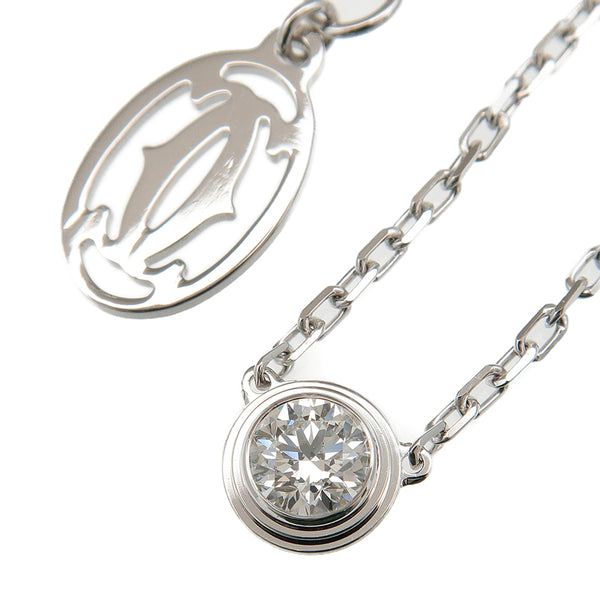 Cartier Diamants Légers Necklace LM 1P Diamond 0.18ct White Gold