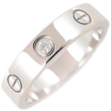 Cartier Mini Love Ring 1P Diamond White Gold #50 US5.5 EU50.5