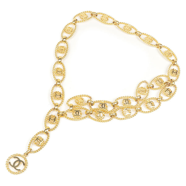 CHANEL CoCo Mark Vintage Chain Belt Gold 26