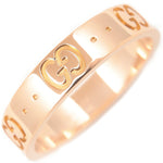 GUCCI ICON Ring K18 PG 750 Rose Gold #11 US5.5 HK12 EU51