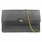 Christian Dior Trotter PVC Leather Chain Bag Black-dct-ep_vintage luxury Store