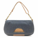 Christian Dior Malice Denim Leather Shoulder Bag Blue-dct-ep_vintage luxury Store