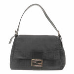 FENDI Zucca Mamma Baguette Nylon Shoulder Bag Black 26325-dct-ep_vintage luxury Store