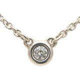 Tiffany&Co. By the Yard 1P Diamond Necklace 0.03ct SV925 Silver