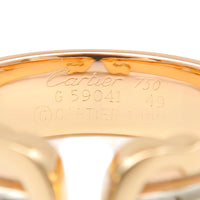 Cartier 2C Ring SM Three Color K18 YG/WG/PG #49 US5.5 HK11.5 EU50