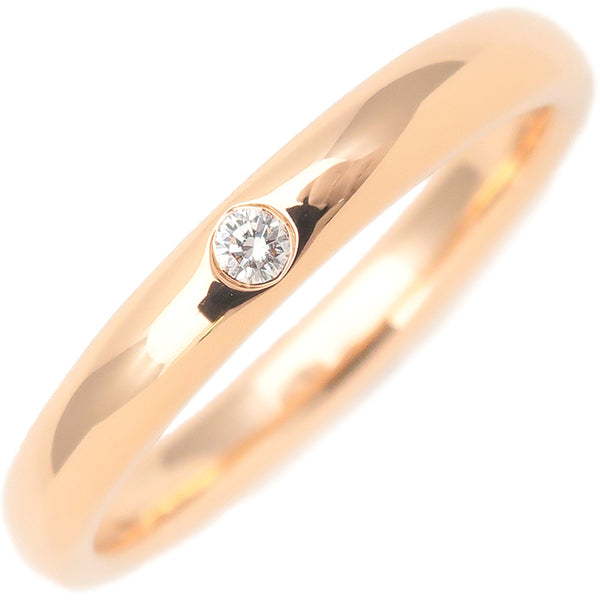 Tiffany&Co. Stacking Band Ring 1P Diamond Rose Gold US5 EU50