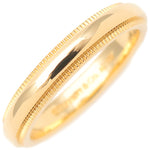 Tiffany&Co. Milgrain Band Ring 3mm Yellow Gold US4.5 HK9.5 EU48