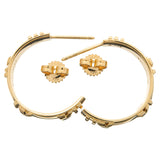 Tiffany&Co. Atlas Numeric Hoop Earrings K18 750YG Yellow Gold