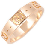 GUCCI ICON Ring K18 PG 750 Rose Gold #11 US5.5 HK12-12.5 EU51