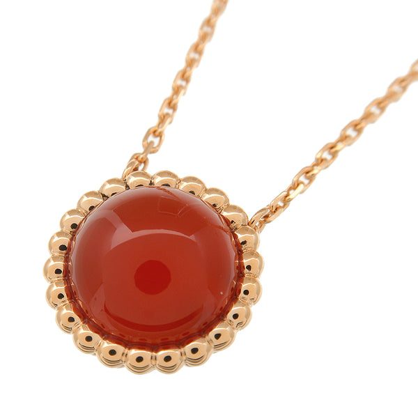 Van Cleef & Arpels Perle Couleur Necklace Carnelian K18 Rose Gold