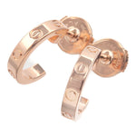 Cartier Mini Love Earrings K18PG 750PG Rose Gold