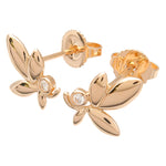 Tiffany&Co. Olive Leaf Diamond Earrings K18 750PG Rose Gold