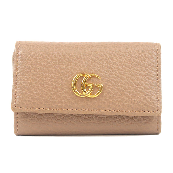 GUCCI Petit Marmont Leather 6 Hook Key Case Gray 456118