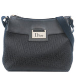 Christian Dior Trotter Canvas Leather Shoulder Bag Black