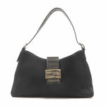 FENDI Neoprene Leather Shoulder Bag Black 916115-dct-ep_vintage luxury Store