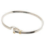 Tiffany&Co. Hook and Eye Bangle Silver 925 Yellow Gold