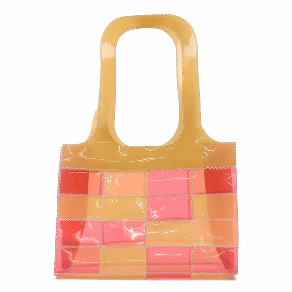 CHANEL Patchwork Vinyl Tote Bag Beige Pink-dct-ep_vintage luxury Store