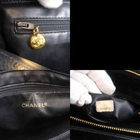 CHANEL Caviar Skin Chain Tote Bag Black Gold-dct-ep_vintage luxury Store