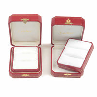 Cartier Set of 2 Pair Ring Box Jewelry Box For Ring Red-dct-ep_vintage luxury Store