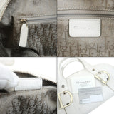Christian Dior Cannage Leather Hand Bag White