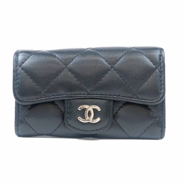 CHANEL Matelasse Lamb Skin Key Case 6 Rings Black A31503-dct-ep_vintage luxury Store