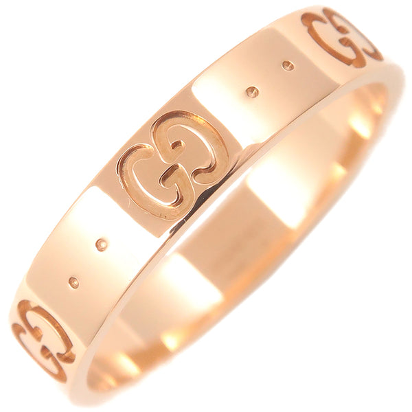 GUCCI ICON Ring K18 PG 750 Rose Gold #16 US7.5 HK17 EU56