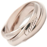 Cartier Trinity Ring K18 White Gold #53 US7.5 HK14.5 EU53.5
