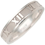 Tiffany&Co. Atlas Ring K18WG White Gold US7 HK16 EU55