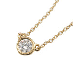 Tiffany&Co. By the Yard 1P Diamond Necklace 0.17ct K18 Yellow Gold