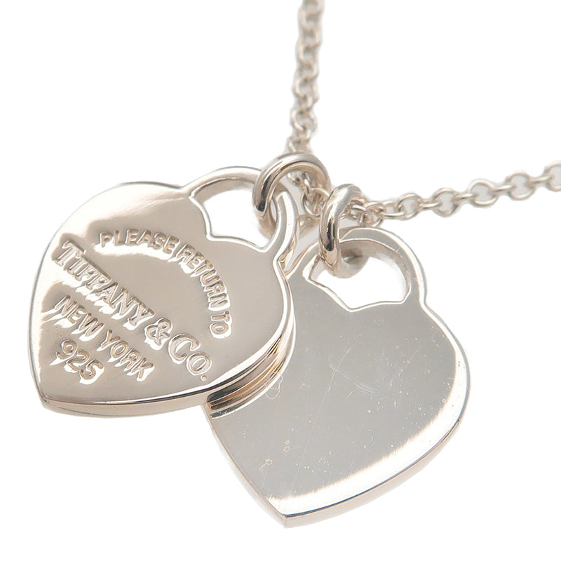 Tiffany Co Return To Tiffany Mini Double Heart Tag Necklace Sv925 Dct Ep Vintage Luxury Store