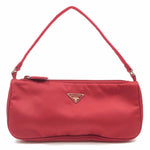 PRADA Nylon Leather Shoulder Bag Hand Bag Purse Red