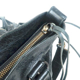 BALENCIAGA The First Leather 2Way Hand Bag Black 103208
