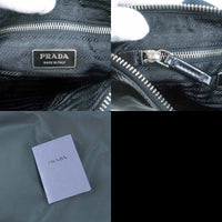 PRADA Nylon Leather Shoulder Bag Cross Body Bag Black