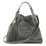 GUCCI SOHO Interlocking Leather Hand Bag Shoulder Bag 336751
