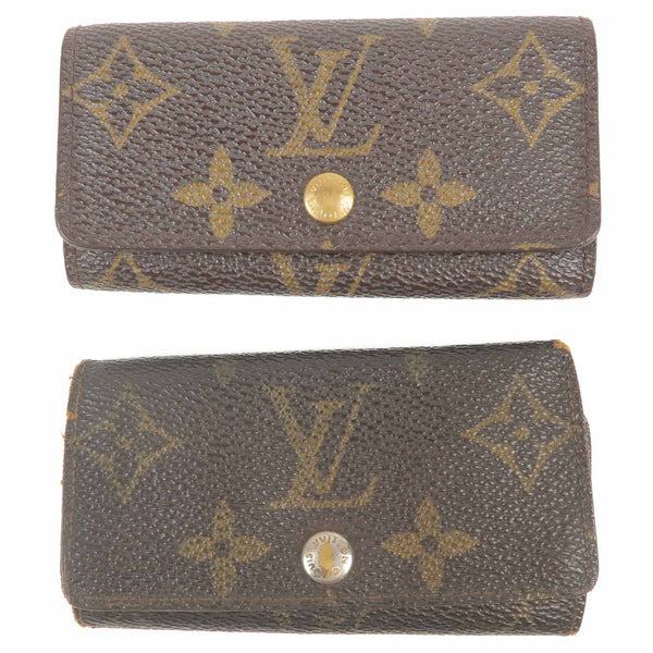 Louis Vuitton Monogram Set of 2 Multiclés 4 Key Case Key Holder M62631
