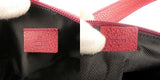 GUCCI GG Canvas Leather Pouch Hand Bag Red 103399