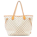 Louis Vuitton Damier Azur Neverfull MM Tote Bag N51107