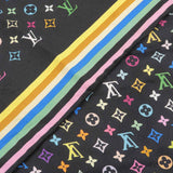 Louis Vuitton Carré Monogram Multi Color Scarf Noir M71914