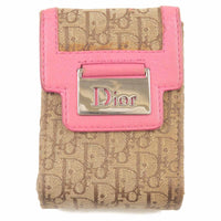 Christian Dior Trotter Canvas Leather Cigarette Case Pink