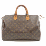 Louis Vuitton Monogram Speedy 35 Hand Bag Boston Bag M41524
